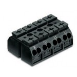 Bornier 4P noir 4mm2