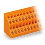 Barrette borne 2 étages orange