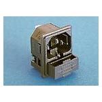 Fiche C14 10A 250V +fusible ref. PF0011/10/48 Elektron Technology
