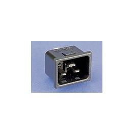 Fiche C20 noire 16A 250V ref. PX0598/10/48 Elektron Technology