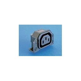 Prise 10A 250V feuille F noire ref. PX0675/PC Elektron Technology