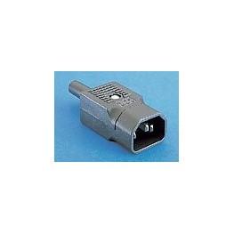 Connecteur mâle droit noir ref. PX0686 Elektron Technology