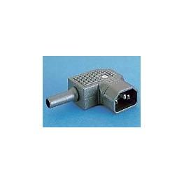 Connecteur mâle coudé blanc ref. PX0686/SE/WH Elektron Technology