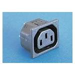 Prise 10A 250V feuille F noire ref. PX0695/10/28 Elektron Technology