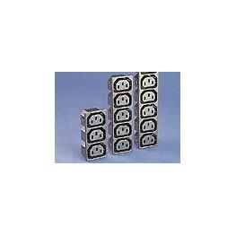 Prise 3 sorties 10A 250V ref. PX0717/3/15/ST Elektron Technology
