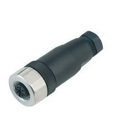 Connecteur M12 femelle droit ref. 99-0430-282-04 Binder