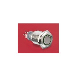 BP lumineux rouge diam 18mm ref. MP0045/1E2RD012 Elektron Technology