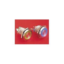 BP lumineux rouge diam 22mm ref. MPI002/28/RD/24 Elektron Technology
