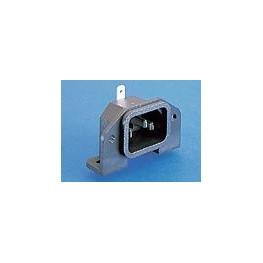 Fiche C14 10A 250V noire ref. PX0580/PC/7/LC Elektron Technology