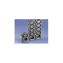 Fiche/prise 4 sorties 10A 250V ref. PX0718/4/15/ST Elektron Technology