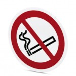 Étiq symbole Défense de fumer