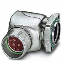 Boitier connect fem M23 coudé ref. 1607354 Phoenix