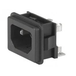 Embase IEC C14 10A 250VAC ref. GSF2-1011-01 Schurter
