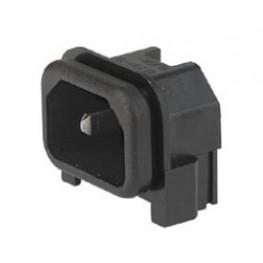 Embase IEC 10A 250VAC capotée ref. GSP2-9113-14 Schurter