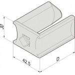 Passe-câbles à clipser ref. 60239021 Schroff