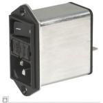 Filtre secteur 6A prise IEC ref. DD12-6123-111 Schurter