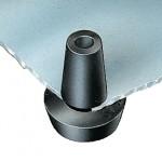 Pied encliquetable PVC noir ref. 50493 Essentra