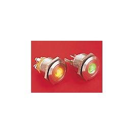 BP lumineux orange diam 22mm ref. MPI001/28/AM Elektron Technology