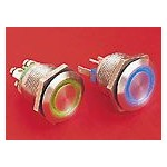 BP lumineux rouge/bleu 22mm ref. MPI002/28/D4 Elektron Technology