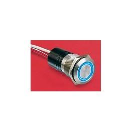 BP lumineux bleu diam 22mm ref. MPI002/FL/BL Elektron Technology