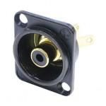 Embase RCA noire format D ref. NF2D-B0 Neutrik