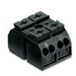 Bornier 2P noir 4mm2