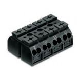 Bornier 4P noir 4mm2 ref. 862-0594 Wago
