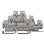 Borne grise à 3 étages L/L/N ref. 870-553 Wago