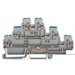 Borne grise à 3 étages PE/L/L ref. 870-577 Wago