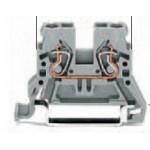Borne grise claire 2x2.5mm2 ref. 870-909 Wago