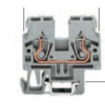 Borne grise 2x2.5mm2 ref. 870-911 Wago