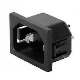 Prise IEC C14 10A 25VAC ref. 6150-5525 Schurter