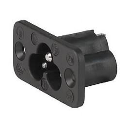 Prise IEC C6 2.5A 250VAC à vis ref. 6160-0001 Schurter