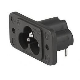 Prise IEC C6 2.5A 250VAC à vis ref. 6160-0002 Schurter