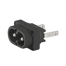 Prise IEC C8 2.5A 250V  ref. 6160-0008 Schurter