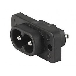 Prise IEC C8 2.5A 250VAC à vis ref. 6160-0014 Schurter