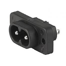 Prise IEC C8 2.5A 250VAC à vis ref. 6160-0015 Schurter