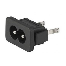 Prise IEC C8 2.5A 250V snap-in ref. 6160-0029 Schurter