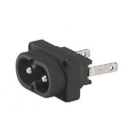 Prise IEC C8 2.5A 250V  ref. 6160-0030 Schurter