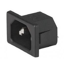 Prise IEC C14/C18 10A 250V ref. 6162-0004 Schurter