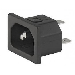 Prise IEC C14 10A 250V  ref. 6162-0012 Schurter