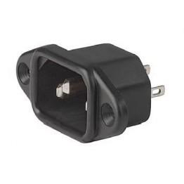 Prise IEC C14 10A 250V à vis ref. 6162-0049 Schurter