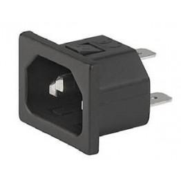 Prise IEC C14 10A 250V  ref. 6162-0161 Schurter