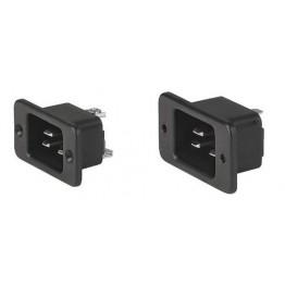 Prise IEC C20 16A 250V à vis ref. 6163-0009 Schurter