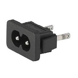 Prise IEC C8 2.5A 250V snap-in ref. 6163-0017 Schurter