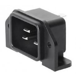Prise IEC C20 16A 250V à vis ref. 6163-0018 Schurter