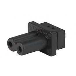 Fiche IEC D 2.5A 250V à insert ref. 6180-0006 Schurter