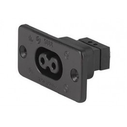 Fiche IEC 2.5A 250V à visser ref. 6180-0007 Schurter