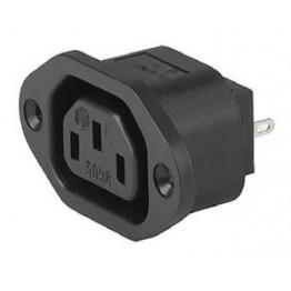 Fiche IEC F/H 10A 250V à vis ref. 6182-0028 Schurter