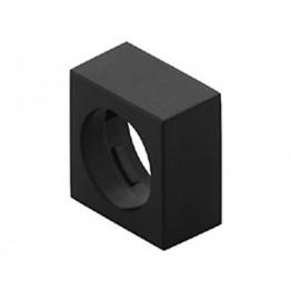 Cache plastique noir 24x24 mm ref. 6192200 EAO secme